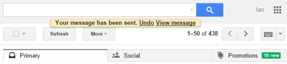 Google Undo send feature